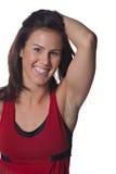 Hübscher weiblicher Athlet stockfotos