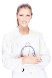 Hübscher weiblicher Doktor Lizenzfreie Stockbilder
