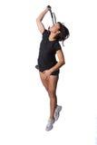 Hübscher weiblicher Tennisspieler lizenzfreie stockbilder