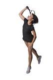 Hübscher weiblicher Tennisspieler lizenzfreies stockfoto