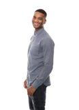 Hübsches Afroamerikaner-Mann-Lächeln Stockbild