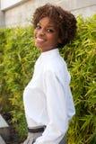 Hübsches Afroamerikanerleitprogramm Stockfotografie