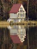 Hübsches Bootshaus auf Chesapeake Bay stockbilder