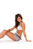 Hübsches Brunette-Mädchen lizenzfreie stockbilder