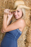 Hübsches Cowgirl lizenzfreies stockfoto