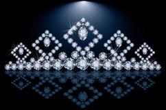 Hübsches Diamantprinzessindiadem stock abbildung