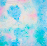 Hübsches farbiges Tinte beflecktes Gewebe Lizenzfreies Stockfoto