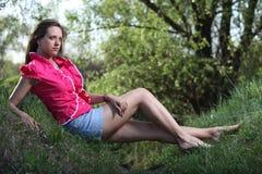 Hübsches Frühlingsmädchen Lizenzfreies Stockfoto