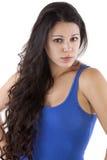 Hübsches Frauenblickschauen Lizenzfreies Stockfoto