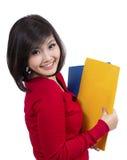 Hübsches Hochschulmädchen Stockfoto