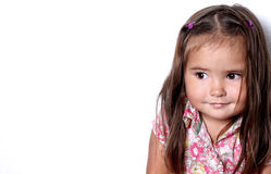 Hübsches lächelndes Kind stockfoto