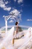 Hübsches Mädchen auf Jamaika-Strand Stockbild