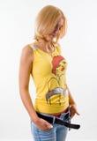 Hübsches Mädchen, blond Lizenzfreies Stockfoto