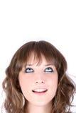 Hübsches Mädchen, das oben schaut Lizenzfreies Stockfoto