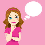 Hübsches Mädchen-Denken Stockfoto