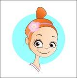 Hübsches Mädchen des Avataras Stockfoto