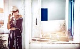 Hübsches Mädchen in Griechenland Lizenzfreies Stockfoto