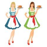 Hübsches Mädchen im deutschen Trachtenkleid Stockfoto
