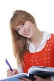 Hübsches Mädchen mit Buch Lizenzfreies Stockfoto
