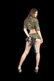 Hübsches Mädchen mit Gewehr Lizenzfreie Stockbilder