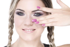 Hübsches Mädchenportrait Lizenzfreies Stockbild