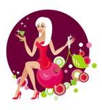 Hübsches Partymädchen Stockfoto