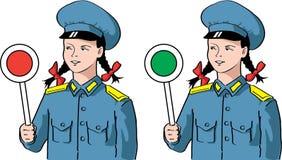 Hübsches railwaywoman Lizenzfreie Stockbilder