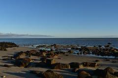 Hübsches Strandufer auf einer Neu-England Küste stockfoto