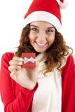Hübsches Weihnachtsmädchen Lizenzfreie Stockfotos