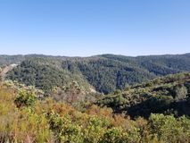 Hügel übersehen Lizenzfreies Stockbild