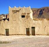 Hügel Afrika in Marokko das alte contruction   und histori Stockbilder