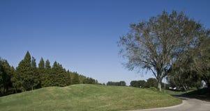 Hügel auf einem Golfplatz Stockbild