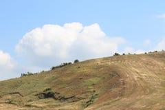 Hügel auf toskanischem Apennines stockfoto