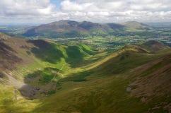 Hügel im See-Bezirk, England Lizenzfreies Stockfoto