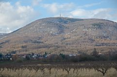 Hügel Jedlova, Tschechische Republik Lizenzfreie Stockbilder