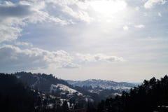Hügel Karpaten lizenzfreies stockbild