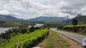 Hügel in Munnar, Kerala, Indien lizenzfreie stockfotografie