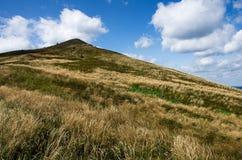 Hügel in Nationalpark Bieszczady in Polen Stockfotos