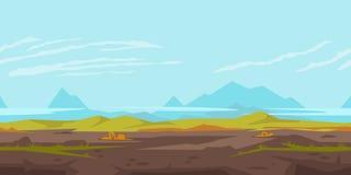 Hügel-Spiel-Hintergrund-Landschaft Stockbild