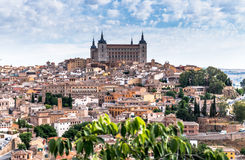 Hügel-Stadt in Toledo, Spanien Stockbilder