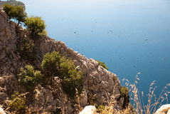 Hügel und adriatisches Meer, Dalmatien, Kroatien Lizenzfreie Stockfotografie
