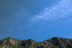 Hügel und Himmel Lizenzfreies Stockfoto