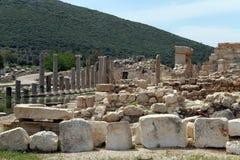 Hügel und Ruinen stockbilder