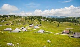 Hügel Velika Planina, Slowenien Stockfoto