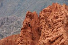 Hügel von Cerro 7 colores bei Purmamarca Stockbilder