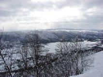 Hügel von Geilo Stockbild