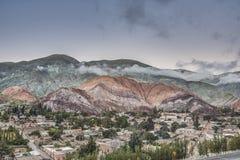 Hügel von sieben Farben in Jujuy, Argentinien stockbilder