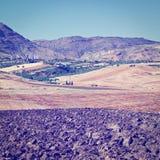 Hügel von Sizilien Stockfotos