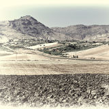 Hügel von Sizilien Stockfotografie