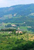 Hügel von Toskana Lizenzfreies Stockfoto